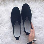 Слипоны черные